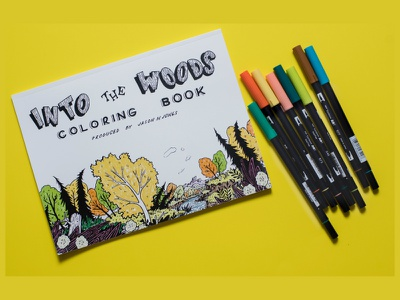 Into the Woods adult coloring book  bookt coloring adult
