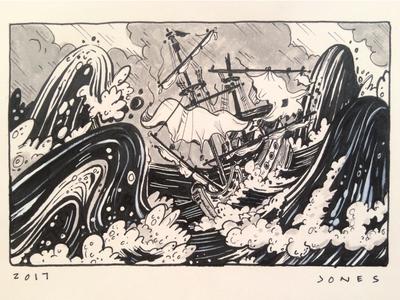 Shipwreck Drawing