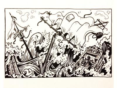 Shipwreck Drawing 2