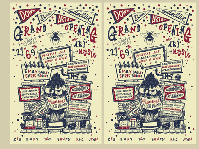 Downtown Artist Collective  event poster