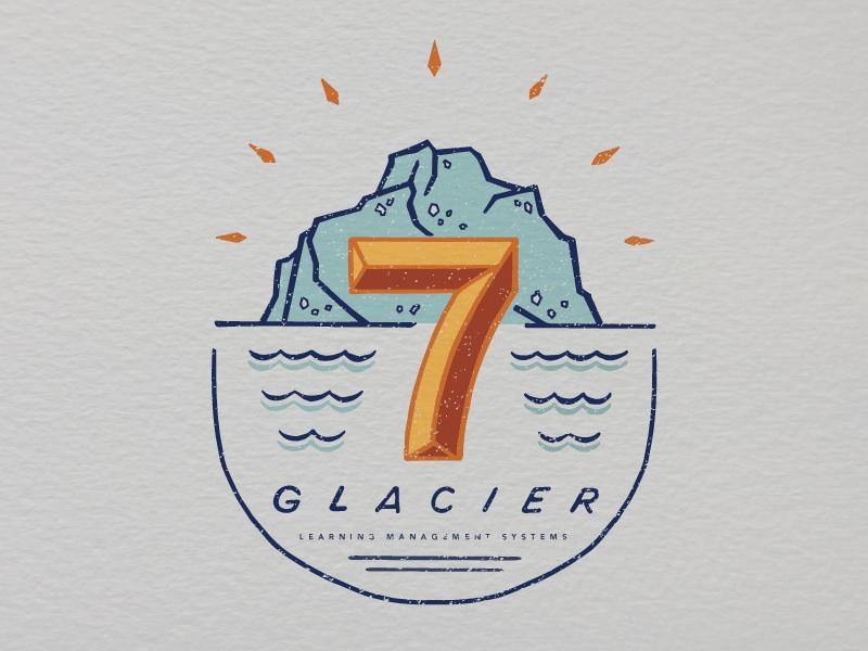 Glacier 7 logo vector lettering hand design logo