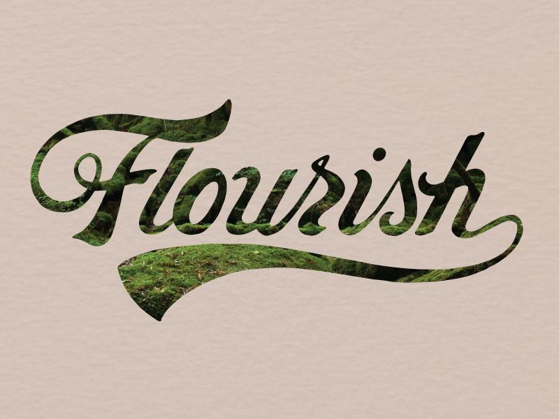 Flourish lettering hand logo