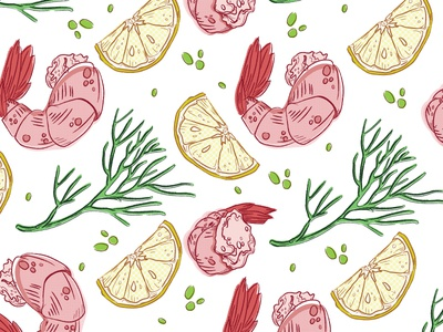 Group of spot illustrations for Whole Foods Market.