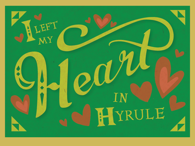 Zelda Valentine. fan art lotz hand lettering vector lettering