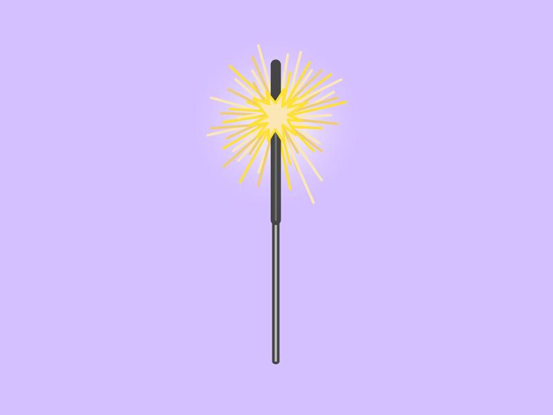 """""""sparkler"""" vector illustration flat design"""