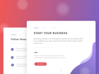 Start your business - Landing page