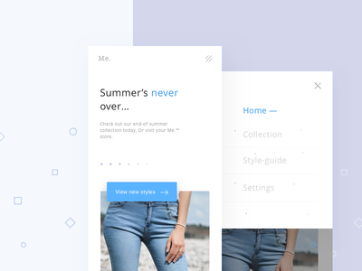 Fashion & style guides app - UI/UX ux ui homepage layout minimal app interface