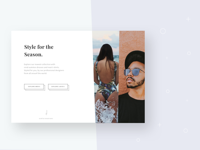 Style for the Season - Landing page web interface ux ui design page landing