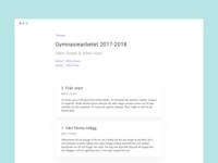 Blog Design - Highschool project