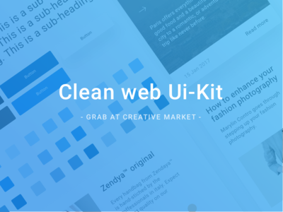 Clean Web Ui Kit ux design web-design freebie kit ui web