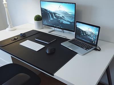 Workstation Winter 2017 white black work office design desk workstation