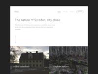 Gäddeholm - Landing page exploration