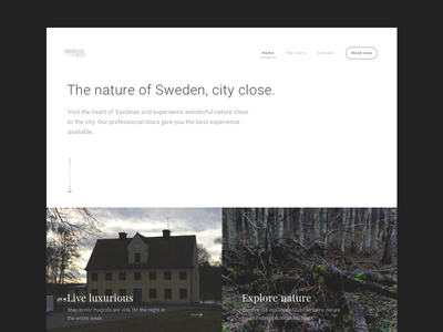 Gäddeholm - Landing page exploration light dark design ux ui website landing-page
