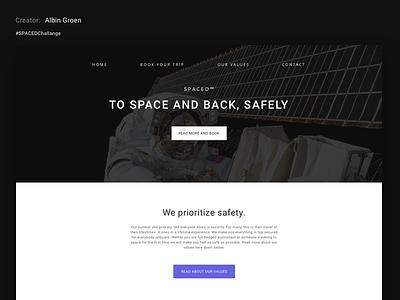 My #SPACEDChallenge Submission challenge ux ui web-design design web spacedchallange