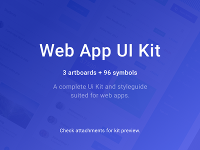 PRODUCT RELEASE - Web App UI Kit v1.0 ui dashboard web package pack kit buy product