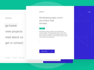 Developing Agency Landing Page studio agency app landingpage ux ui design web