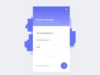 Create account - UI/UX account create signup ux ui design mobile