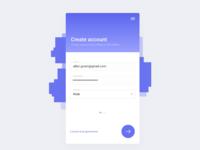 Create account - UI/UX