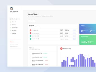 Economy Dashboard  - Web Design dashboards gradient blue green ux ui dashboard design web