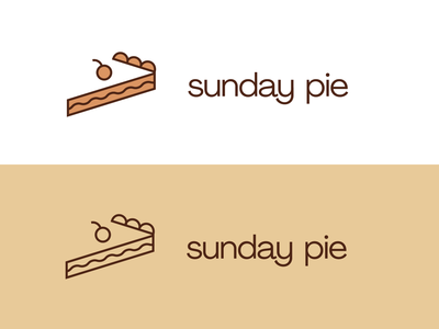 Sunday Pie Logo Design vector illustrator agrandir wordmark sunday bakery cafe branding and identity branding dessert pie trademark symbol outline minimal flat logo