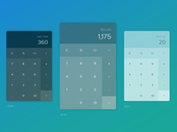 Daily UI #4 - Calculator UI