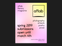 aftab magazine spring 2019 submissions