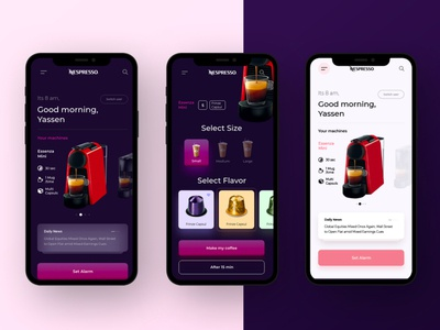 Nespresso coffee app concept prototype motion uidesign uiux ui concept