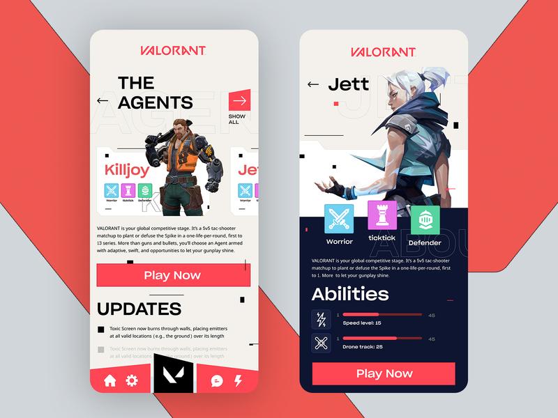VALORANT Game app game design game ui ui screen apple game app valorant