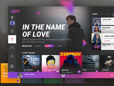 Music Desktop app concept ux ui design app desktop music