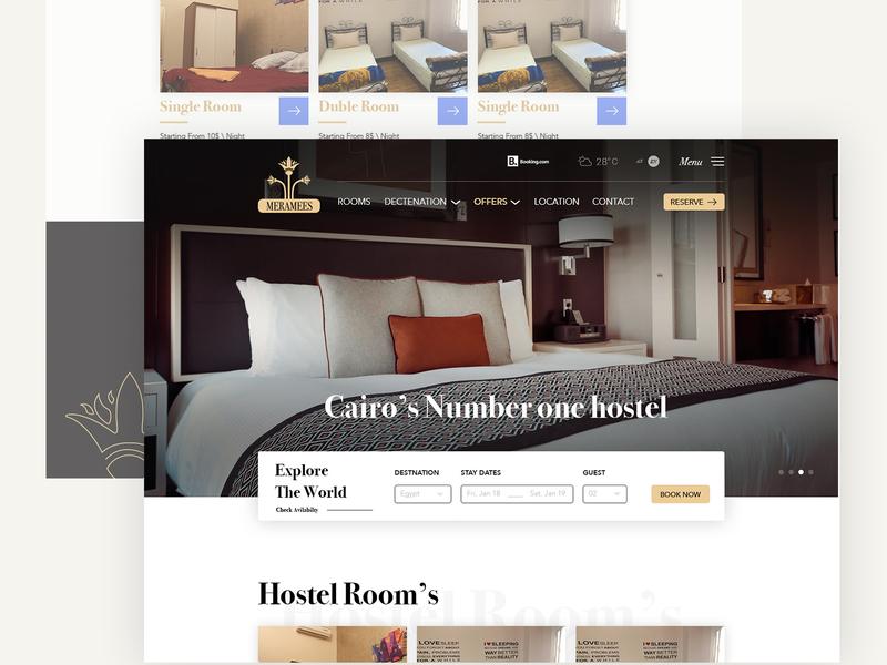 Hotel web home travel hostel ui design webdesign website hotel