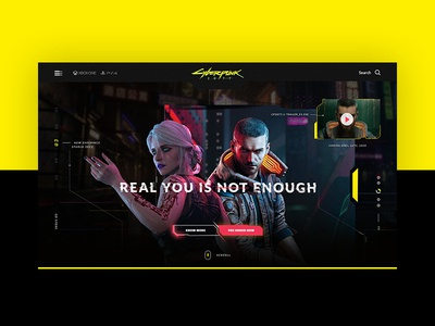 Cyberpunk 2077 website website ui design cyberpunk