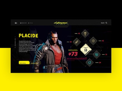 Cyberpunk 2077 website ui design website ui cyberpunk cyberpunk 2077