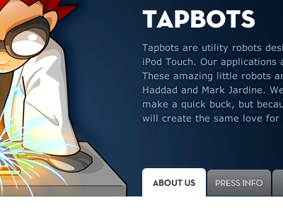 About a Company tapbots header website