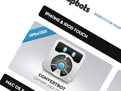 Product tapbots software website