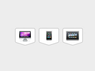 Device Icons apple ipad iphone imac icons