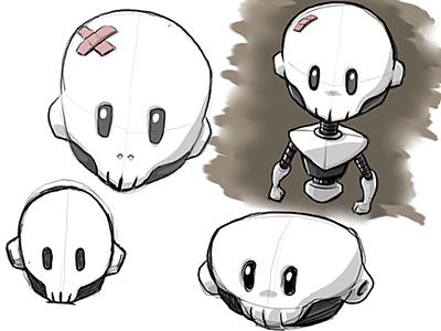 Skullbot robot skull tapbots