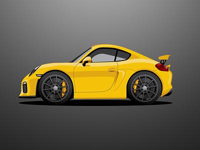 Cayman GT4 car yellow cayman gt4 porsche
