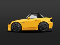 S2K automobile car honda s2000 yellow rio