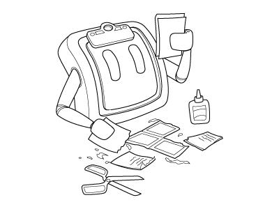 Vectorized illustration tapbots pastebot