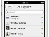 Chat Contact List
