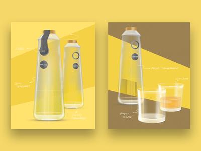 Old sketch | Glass bottles