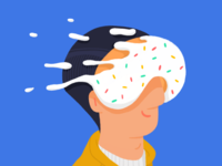 VR donut 🕹🍩 donut character illustration