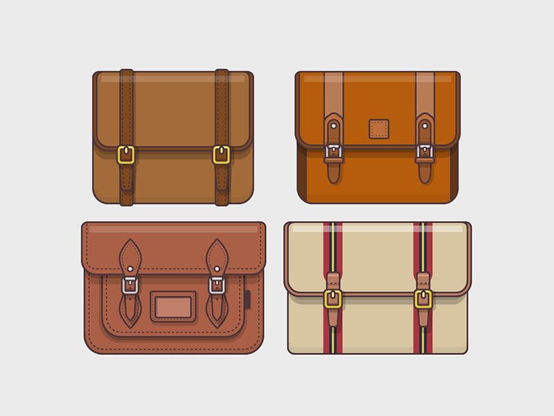 Satchel Bags satchel bag objects illustration