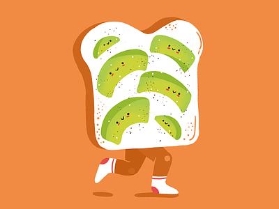 Avocatoast cute avocado toast avocado toast character illustration