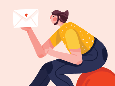 Subscribe! guy email graphic  design marketing subscribe mailing illustration character