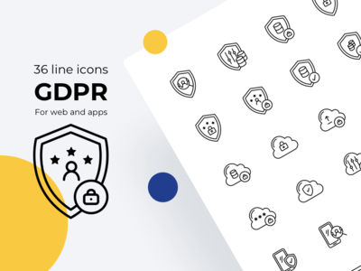 GDPR line icons