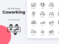Coworking space icons