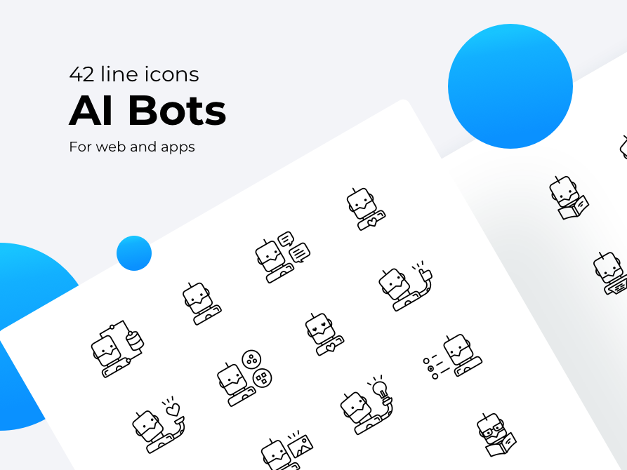 Artificial Intelligence Bot Icons By Somewan On Dribbble