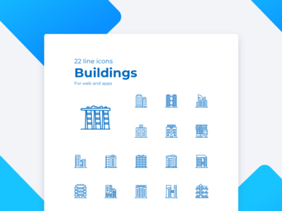 Real estate building icons