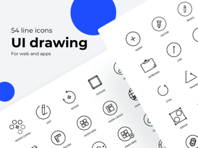 UI drawing line icons